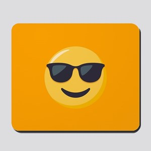Sunglasses Emoji Mousepad