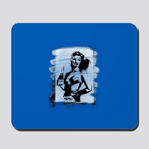 Pepsi Woman-Black/white Mousepad