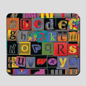 ABCDEFG Mousepad