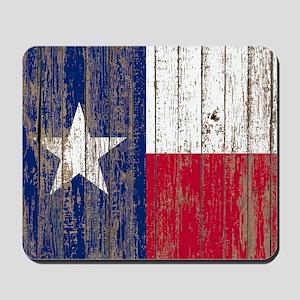 barn wood Texas Flag Mousepad
