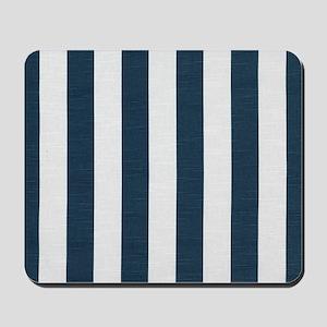 coastal blue nautical stripes Mousepad
