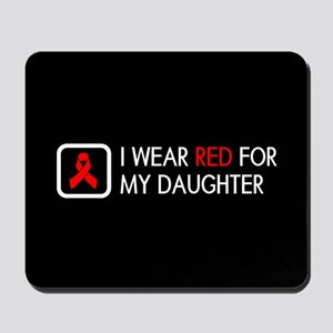 Red Ribbon: Red for my Daughter Mousepad