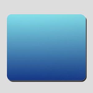 aqua blue ombre Mousepad