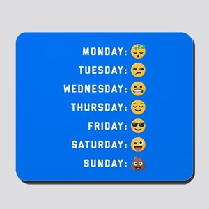 Emoji Days of the Week Mousepad
