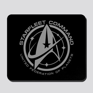 Grey Starfleet Command Emblem Mousepad