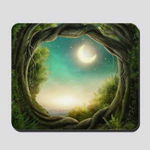 Magic Moon Tree Mousepad