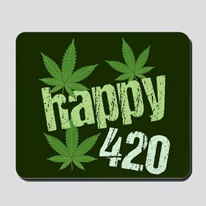 Happy 420 Marijuana Mousepad