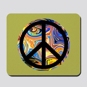Abstract Peace-green Mousepad