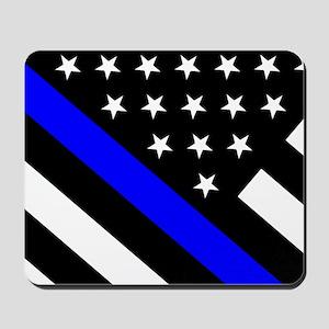 Police Flag: Thin Blue Line Mousepad