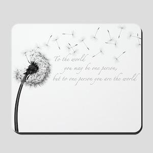 Dandelion Inspiration Mousepad