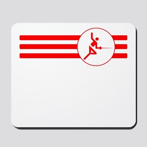 Fencer Stripes (Red) Mousepad