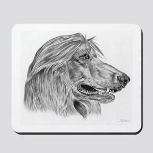 Afghan Hound Pencil Drawing Mousepad