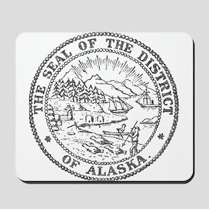 Vintage Alaska State Seal Mousepad