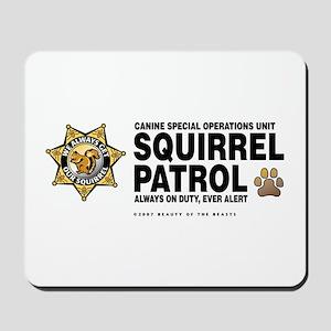 Squirrel Patrol Mousepad