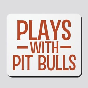 PLAYS Pit Bulls Mousepad