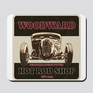 Woodward Hot Rod Shop Mousepad