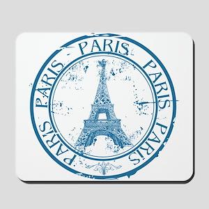 Paris travel stamp Mousepad