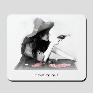 Revolver Girl Mousepad
