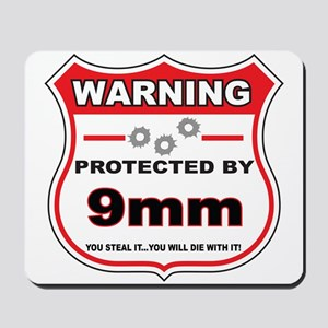 protected by 9mm shield Mousepad