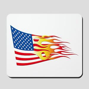 Hot Rod Flag Mousepad