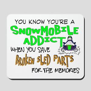 Sled Parts Memories Mousepad