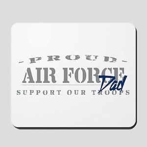 Proud Air Force Dad (Blue) Mousepad