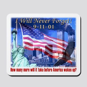 9-11 Tribute & Warning Mousepad