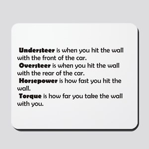 Car handling terms Mousepad
