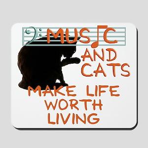 musicandcats Mousepad