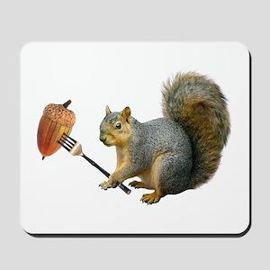 Squirrel Acorn Fork Mousepad
