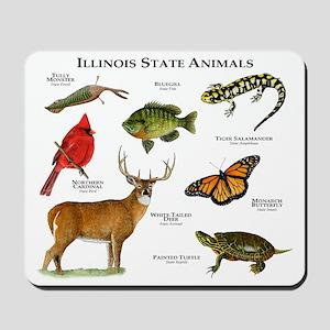 Illinois State Animals Mousepad