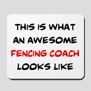 awesome fencing coach Mousepad