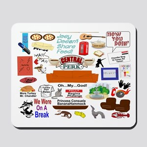 Friends TV Show Collage Mousepad