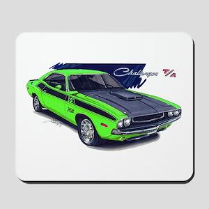 Dodge Challenger Green Car Mousepad