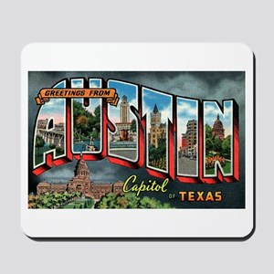 City Of Austin Postcard Mousepad