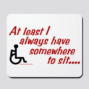 Somewhere to sit Mousepad