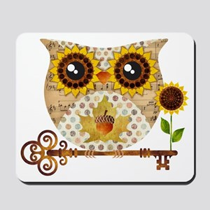 Owls Autumn Song Mousepad