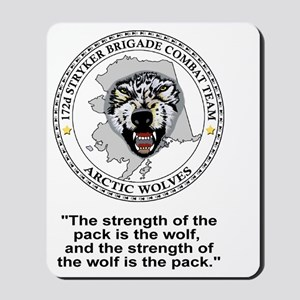 Army-172nd-Stryker-Bde-Arctic-Wolves-Shi Mousepad