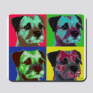 Pop Art Border Terrier Mousepad