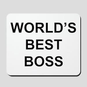 """""""World's Best Boss"""" Mousepad"""