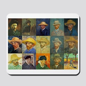 van Gogh Self Portraits Montage Mousepad