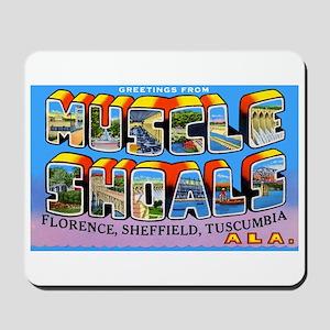 Muscle Shoals Alabama Greetings Mousepad