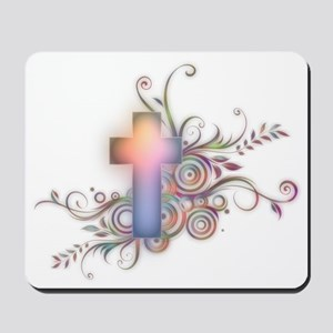 Swirls N Cross Mousepad