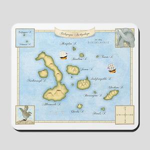 Galapagos Archipelago Map Mousepad