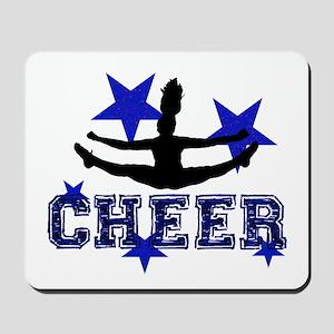 Blue Cheerleader Mousepad