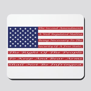 2nd Amendment Flag Mousepad