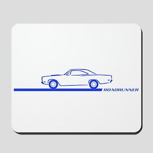 1968-69 Roadrunner Blue Car Mousepad