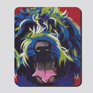 Red Blue & Lime Wire Hair Griffon  Mousepad