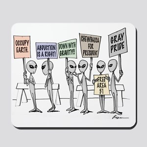 Alien Protestors Mousepad