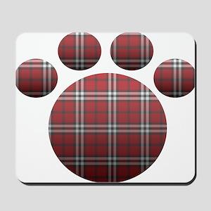 Plaid Paw Mousepad